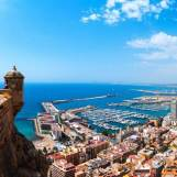 View of alicante from santa barbra castle