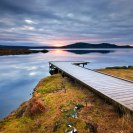 Wooden foot pier in iceland