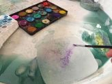 Kids activities Sensory ice painting