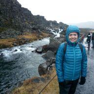 Teachers on a Smart Teachers Play More course visit the tectonic plates in Þingvellir National Park