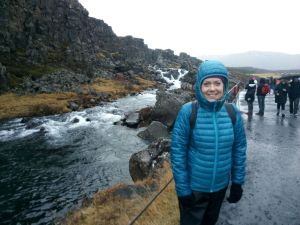 Teachers on a Smart Teachers Play More course visit the tectonic plates in Þingvellir National Park